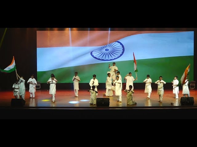 Waving flag dance - Janapriya School 18 annual day
