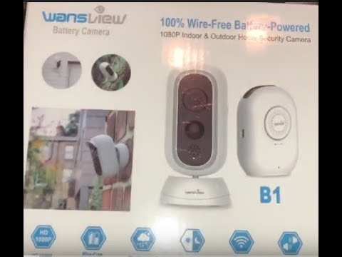 Wansview Wireless WiFi Battery Powered Camera Unboxing/Setup