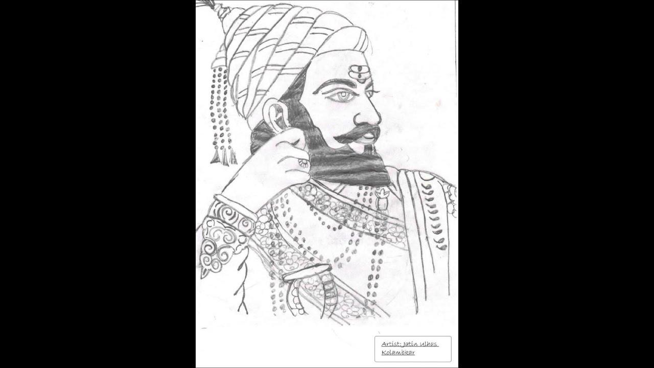 shivaji maharaj sketch jatin youtube