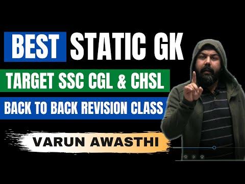 BEST STATIC GK MCQ SERIES FOR SSC GGL & CHSL- VARUN AWASTHI