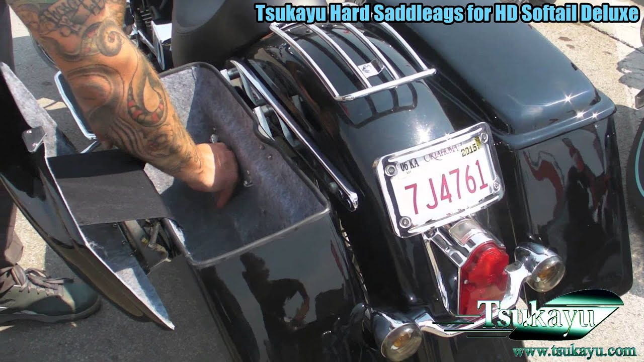 Tsukayu Hard Saddleags for HD Softail Deluxe