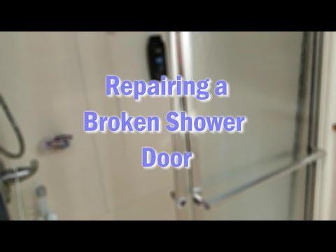 Repairing a Shower Door