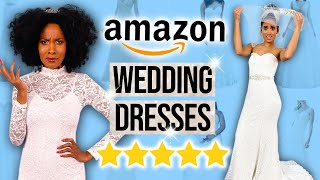 Guessing 1 vs 5 Star Amazon WEDDING DRESSES?!