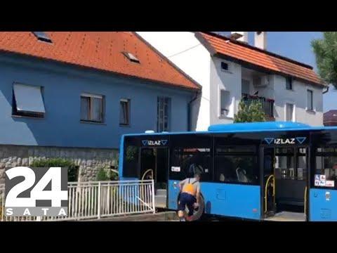 Zagreb: ZET-ov bus probio ogradu i završio u dvorištu kuće