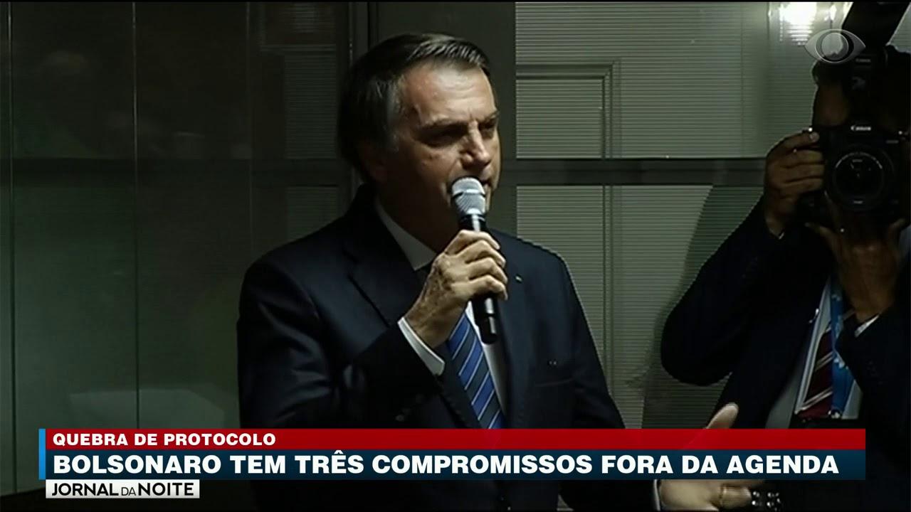 Jair Bolsonaro defende a quebra de protocolo
