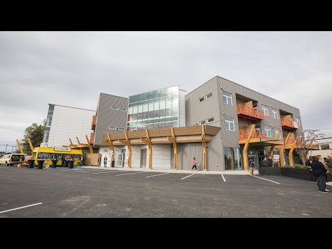 Mixed-use development with subsidized apartments opens in Anchorage