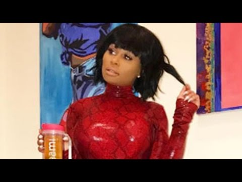 See Blac Chyna Step Out in Red Latex Catsuit!
