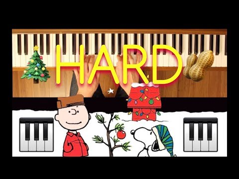 Linus and Lucy Charlie Brown Christmas Advanced Piano Tutorial
