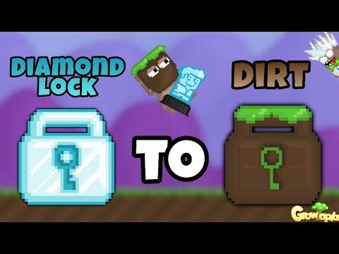 Growtopia | DIAMOND LOCK to DIRT