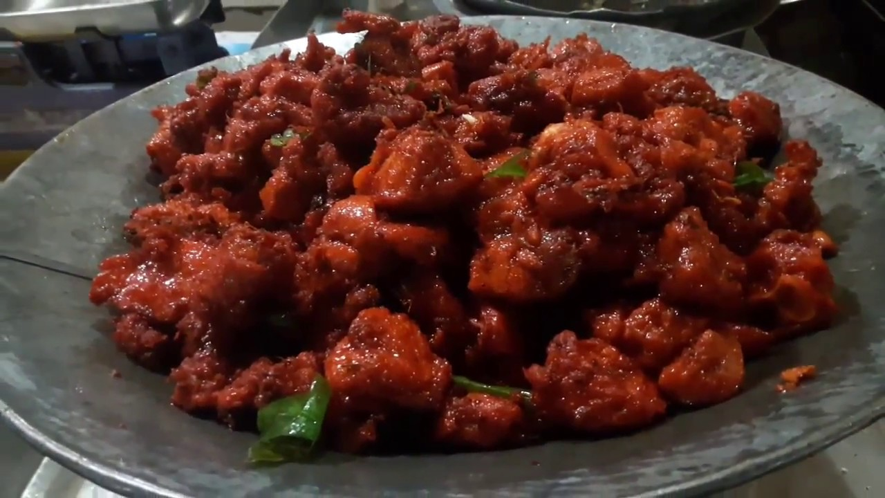 Chilli Chicken Dry South Indian Street Food How To Make Dry Chilli Chicken Youtube