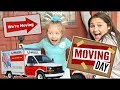 MOVING day VLOG! GHOSTS and SWEAT! The TOYTASTIC Sisters! FUNNY SKIT from KAIA. FUNNY KIDS