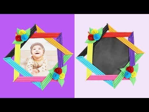 Unique Paper Photo Frame | DIY Colorful Photo Frame | Homemade Photo Frame Making Tutorial
