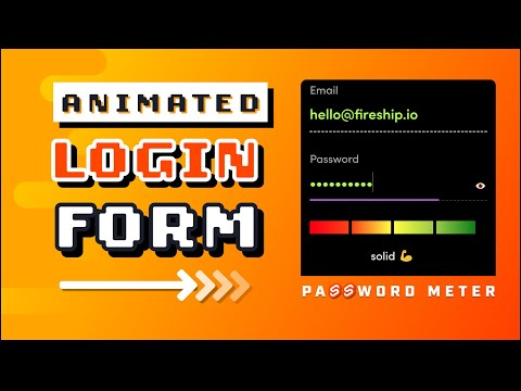 Animated CSS Login Form W/ Password Validation Meter