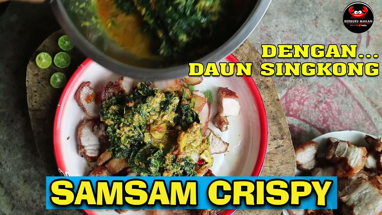 Samsam Babi Crispy Nikmatnyo Crispy Pork Belly In The Village So Delicious Youtube Perut Babi Resep Seafood Daging Babi