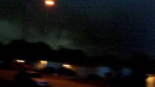 Scary!!! Tornado warning in Fort Worth, Texas with Tornado Siren