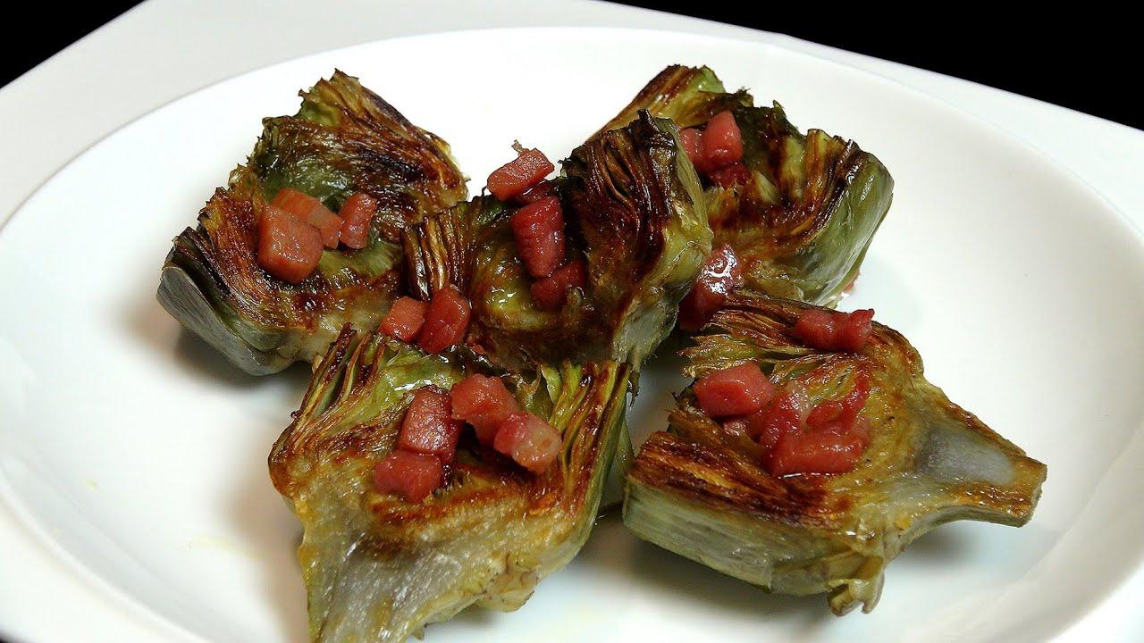 Alcachofas a la plancha recetas de verduras youtube - Cocinar a la plancha ...