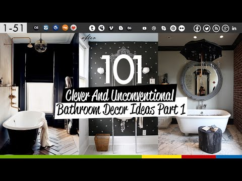 101 Clever Bathroom Decor Ideas (Part 1)