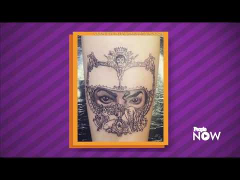 Paris Jackson Actress Honors Father Michael Jackson With Tattoo Of 'Dangerous' Album Cover Art