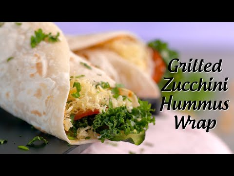 Grilled Zucchini Hummus Wrap Recipe | Zucchini Hummus Wraps | Easy Healthy Recipes By Sneha