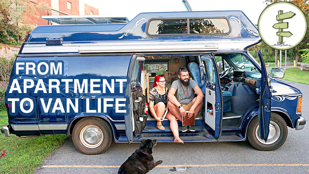 Van Life - Couple Moves From Apartment to Camper Van Full ...