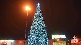 Ель световая Белая со спиралями | Christmas Tree with lights white LED with spirals. Elkin Dom