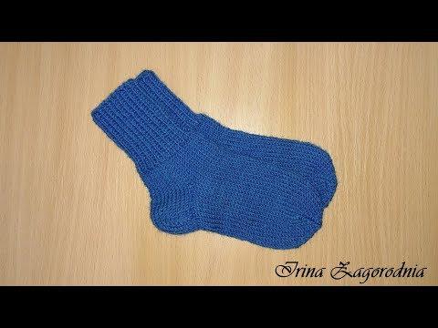 Вязаные носки для детей 4 года спицами