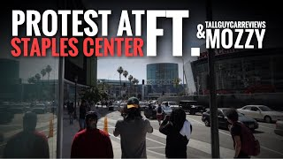 STAPLES CENTER STANDOFF !! Ft MOZZY and tallguycarreviews