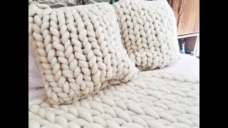 HOW TO HAND KNIT A PILLOW SHAM