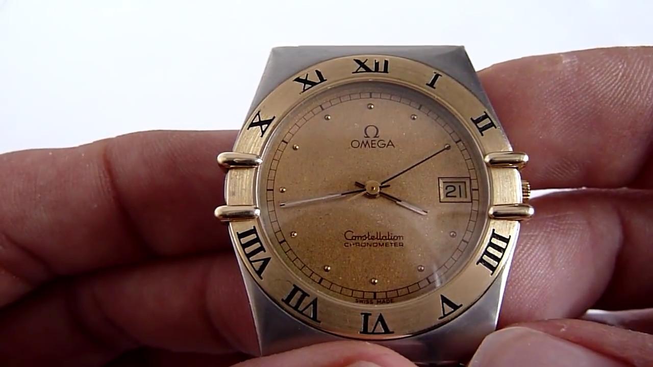 958249591129 (A LA VENTA) Reloj Omega Constellation Calibre 1431 En Oro Acero De Cuarz