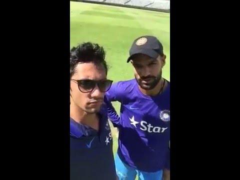 Shikhar Dhawan selfie interview