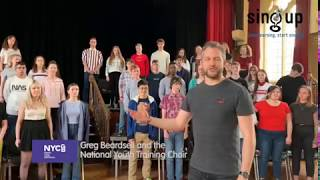 How to do a 'Bootie bootie clappety' warm up - Sing Up and NYCGB