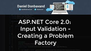 ASP.NET Core 2.0: Input Validation - Creating a Problem Factory