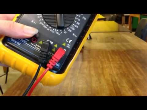 Multi Meter Instructions
