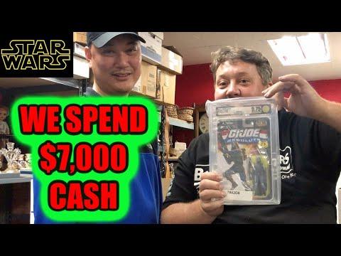 We Spend $7000 Cash Storage Wars Action Figures Star Wars GI JOE MARVEL ABANDONED Auction