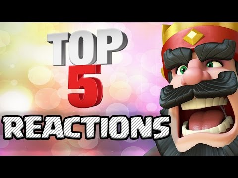 Top 5 Best Chest Opening REACTIONS in Clash Royale