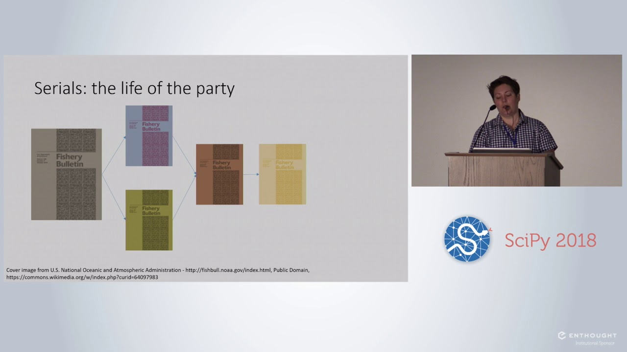 Using Python to Assess Serial Holdings Data in the Research Library | SciPy  2018 | Kelly Thompson