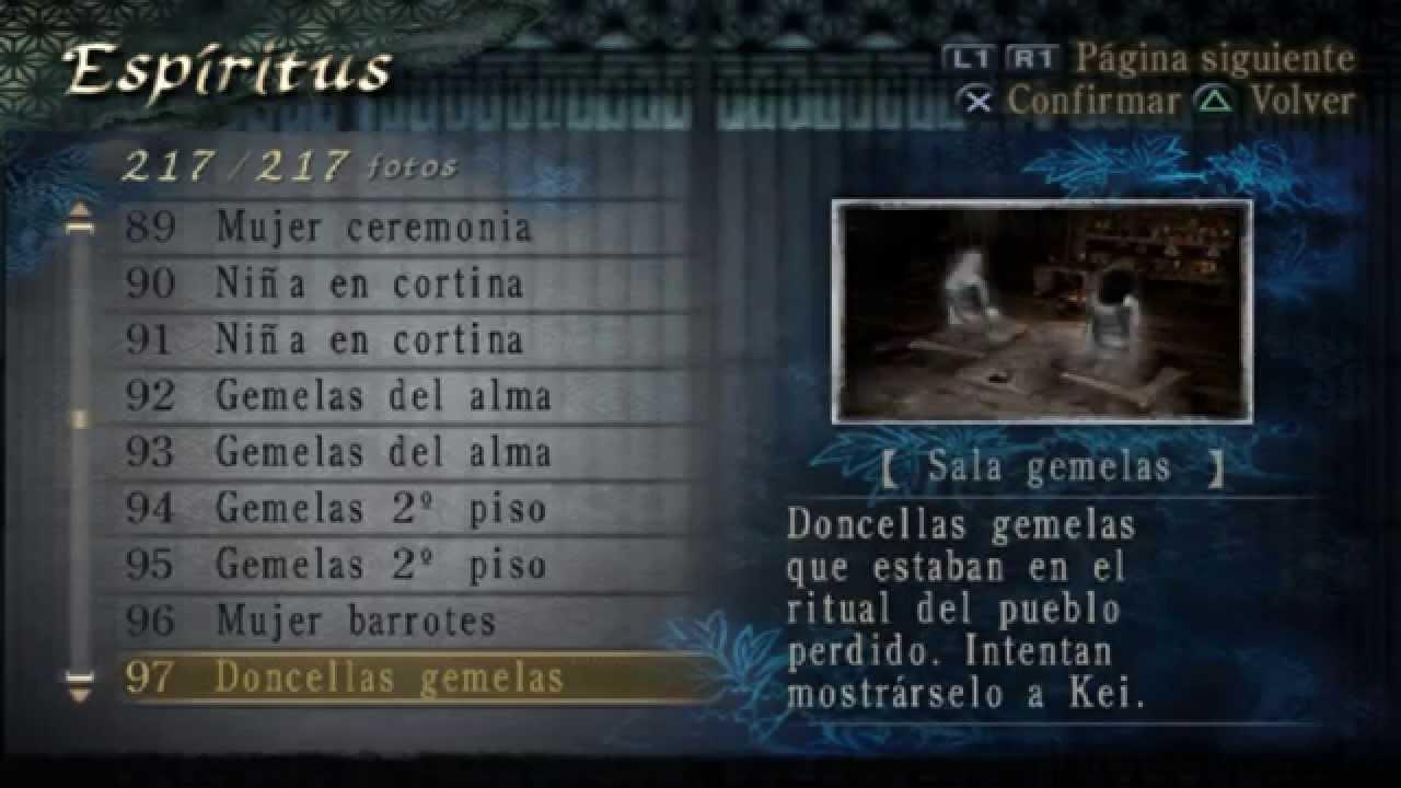 Fatal Frame 3 Lista de espiritus 100% - YouTube