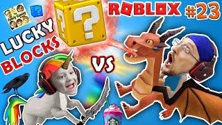 Download ROBLOX LUCKY BLOCKS BATTLE! UNICORNS & FRAPPUCCINO, WHERE MY DRAGON GO? (FGTEEV #23 Minecraft Game) Mp3 and Videos