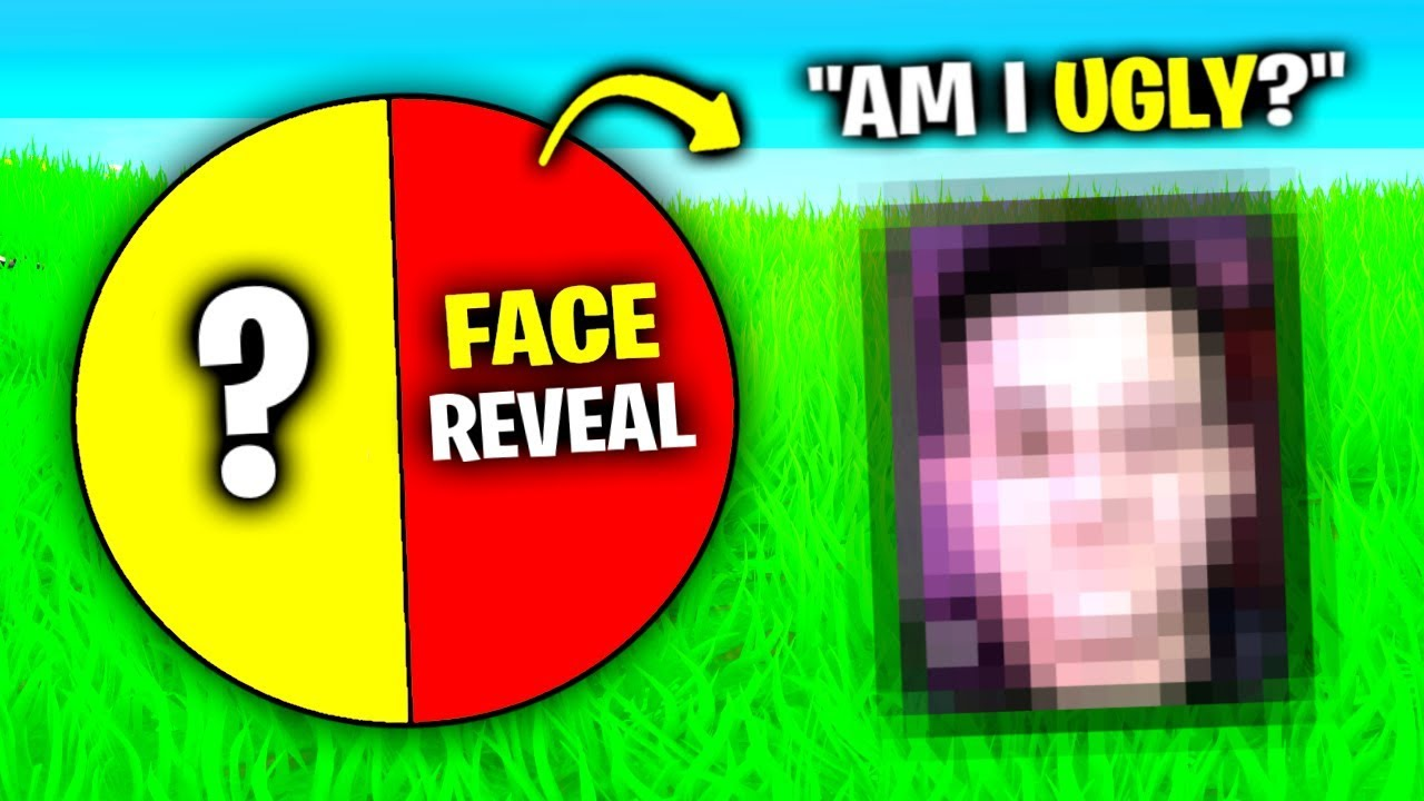 Gesicht REVEAL .. (Fortnite Spin The Wheel) + video