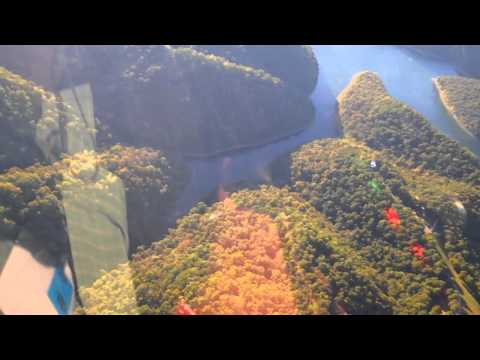 Flying Tennessee Mountains & Flooded Valleys