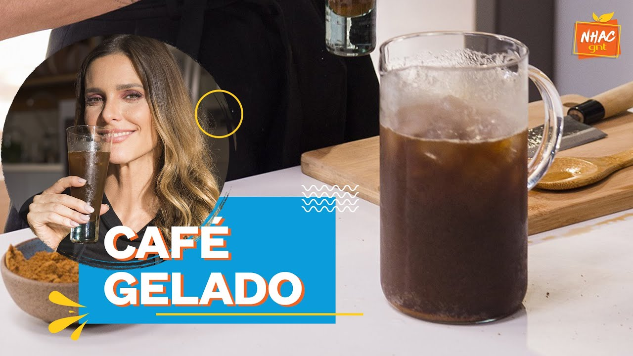 Café gelado com limão, água com gás e açúcar de coco   Bem Juntinhos