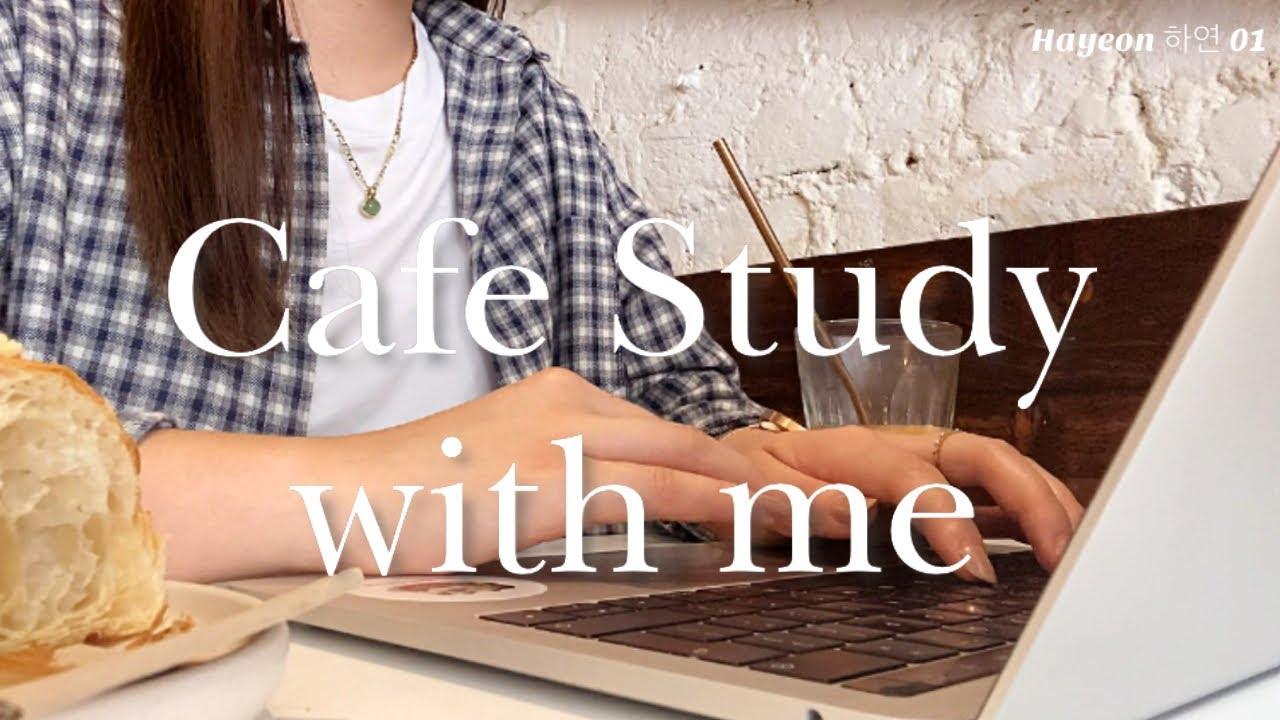 🇬🇧👩🏻💻 LDN medic Study with me, Cafe ambience | 런던 의대생 카페 스터디윗미