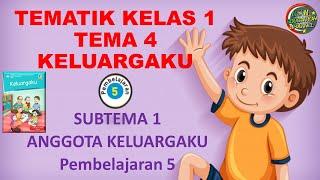 Kelas 1 Tematik : Tema 4 Subtema 1 Pembelajaran 5 (KELUARGAKU)