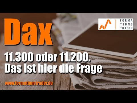 Dax: 10.3000 oder 10.200. Das ist hier die Frage