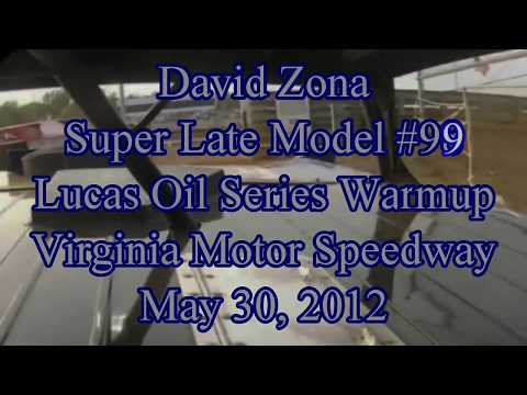 David Zona Super Late Model Warmups at  Virginia Motor Speedway 5/20/12