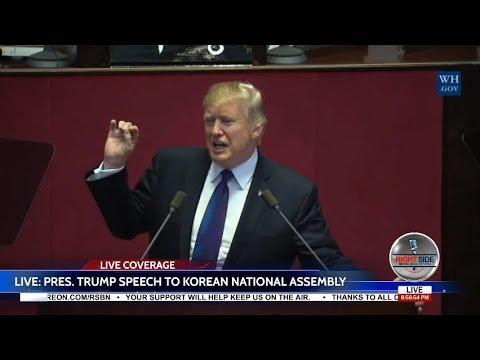 🔴LIVE: President Trump HISTORIC Speech to National Assembly in South Korea 11/7/17