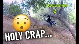 CLOTHESLINED BY A TREE BRANCH!  (HILARIOUS FAIL)