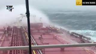Ship In Hurricane Ophelia (Just North Of Ireland)