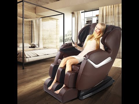 Real Relax Massage Chair Recliner, Electric Zero Gravity Full Body Shiatsu Stretched Massaging Chair