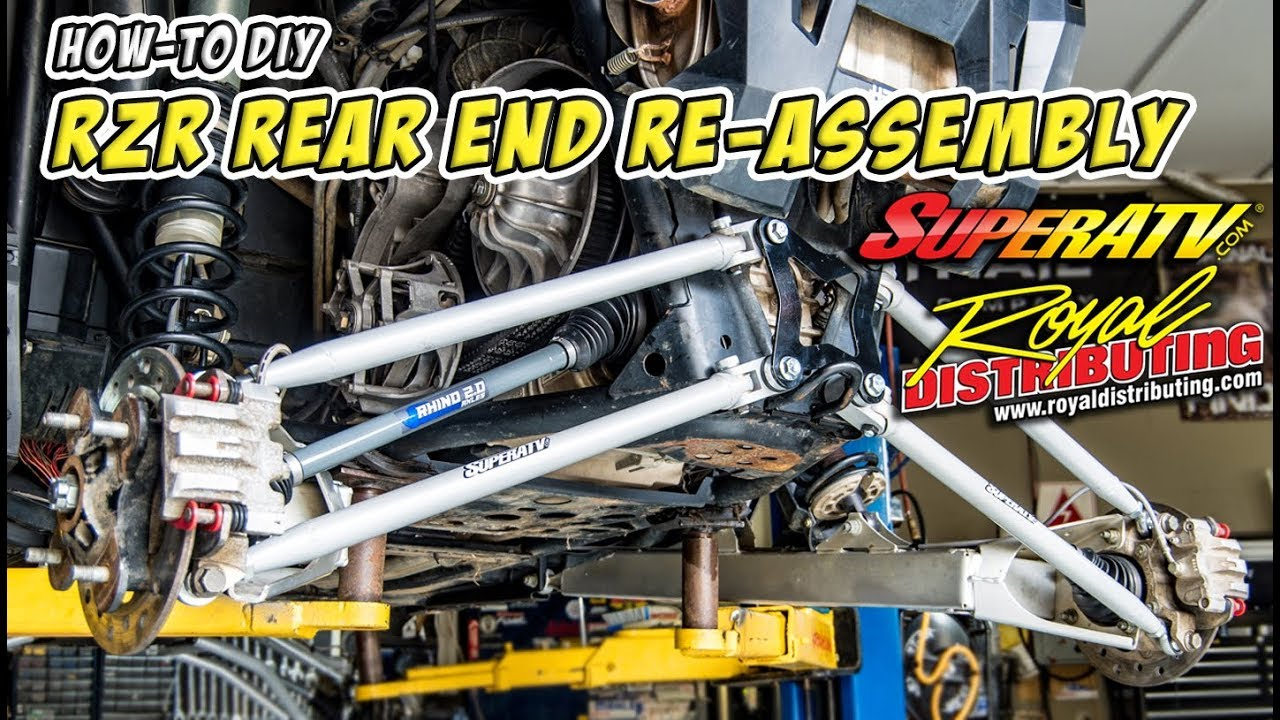 How to Rebuild a Polaris RZR Rear End - DIY Step by Step Re-Assembly  Procedure - #TeamAJP RZR Build